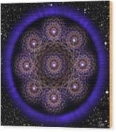 Sacred Geometry 218 Wood Print