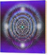 Sacred Geometry 369 Wood Print