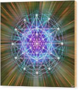Sacred Geometry 72 Wood Print