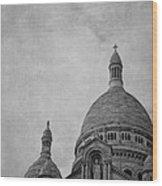 Sacred Heart Basilica Of Montmartre  Wood Print