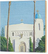 Sacred Heart Church Coronado Wood Print by Mary Helmreich