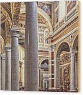 Sacred Heart Of Jesus Church Rome Italy Wood Print