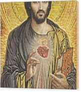 Sacred Heart of Jesus olmc Wood Print