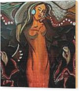 Sacred Prayer Dance Wood Print
