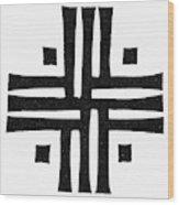 Sacred Roman Cross Wood Print