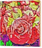 Sacred Roses Wood Print