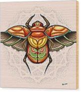 Sacred Scarab Wood Print by Matt Truiano