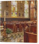 Sacred Space - Our Lady Of Mt. Carmel Church Wood Print