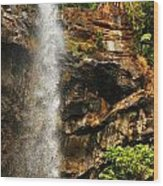 Sacred Waterfall Of Tropical Forest Wood Print