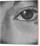 Sad Eye Wood Print