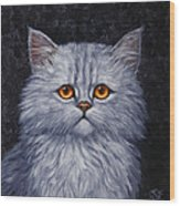 Sad Kitty Wood Print