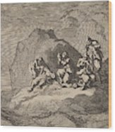 Sad State Of Seven Sailors From The Ship The Karseboom Wood Print