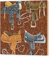 Saddle Leather Wood Print