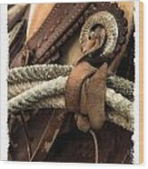 Saddle  Wood Print