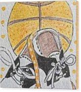 Saddle Oxfords And Basketball Wood Print
