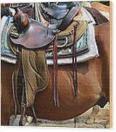 Saddle Up Partner Wood Print