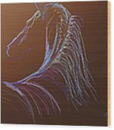 Saddlebred Wood Print