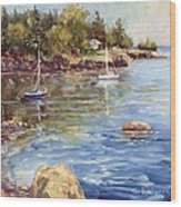 Safe Harbor - Oak Point Wood Print