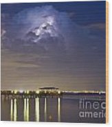 Safety Harbor Pier Wood Print