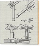 Safety Razor Patent 1937 Wood Print