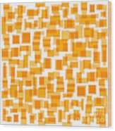 Saffron Yellow Abstract Wood Print by Frank Tschakert