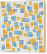 Saffron Yellow And Azure Blue Wood Print