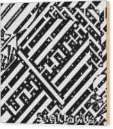 Sagittarius Maze  Wood Print