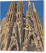 Sagrada Familia In Barcelona Wood Print