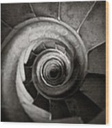 Sagrada Familia Steps Wood Print