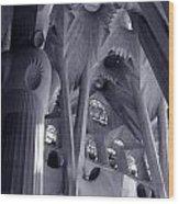 Sagrada Familia Vault Wood Print