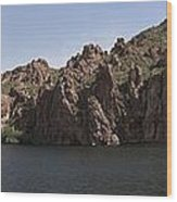 Saguaro Lake Wood Print