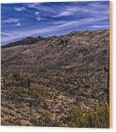 Saguaro View No.1 Wood Print