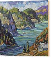 Saguenay Fjord By Prankearts Wood Print