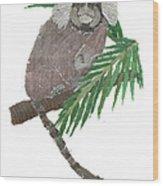 Tamarin Monkey Art Wood Print
