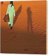 Sahara Desert Bedouin Wood Print by Arie Arik Chen
