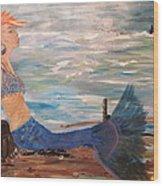Sahbreena Punk Mermaid Wood Print