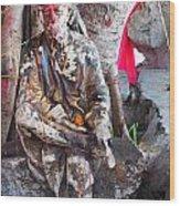 Sai Baba - Resting At Pushkar Wood Print by Agnieszka Ledwon