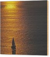 Sail Boat On Puget Sound Wood Print