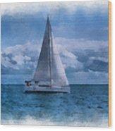 Sail Boat Photo Art 01 Wood Print