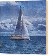 Sail Boat Photo Art 02 Wood Print