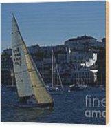 Sail Boat Racing Penryn River Five Spring 2010 Wood Print