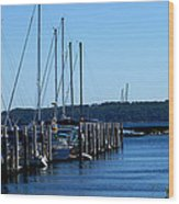 Sail Boats Wood Print