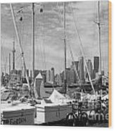 Sail Boats Toronto On Wood Print