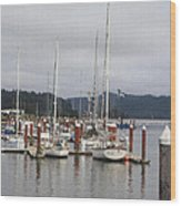 Sail Boats Waiting For Their Captains Wood Print