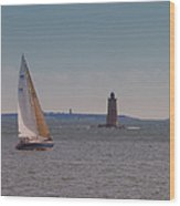 Sail On The Tide Wood Print