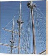 Sail Rigging Wood Print