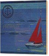 Sail Sail Sail Away - J173131140v02 Wood Print by Variance Collections