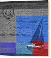 Sail Sail Sail Away - J179176137-01 Wood Print by Variance Collections
