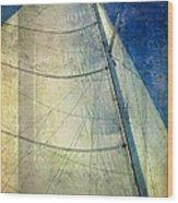 Sail Texture Wood Print