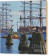 Sailabration Baltimore Wood Print